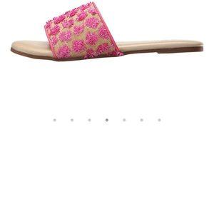 🌷NWOT Pink lemonade Yosi Samra summer slides 8🌷